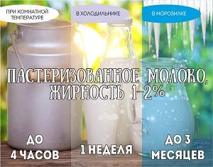 срок годности молочных продуктов