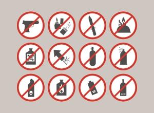 Категории вещей, которые запрещены к перевозу в поездах